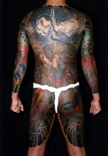 Tatuaje Pierna Japoneses Espalda Samurai Culo por Horiyasu Tattoo