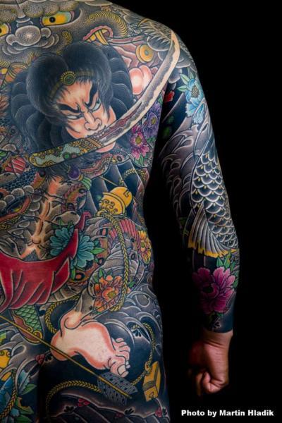 Japanische Rücken Tattoo von Horiyasu Tattoo