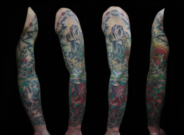 Sleeve Tattoo by Inkrat Tattoo