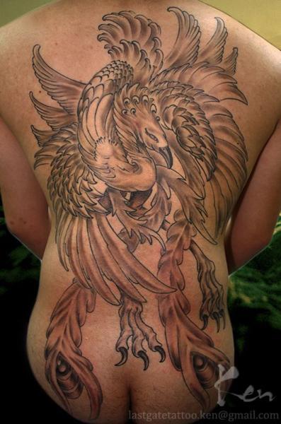 r cken phoenix tattoo von last gate tattoo. Black Bedroom Furniture Sets. Home Design Ideas