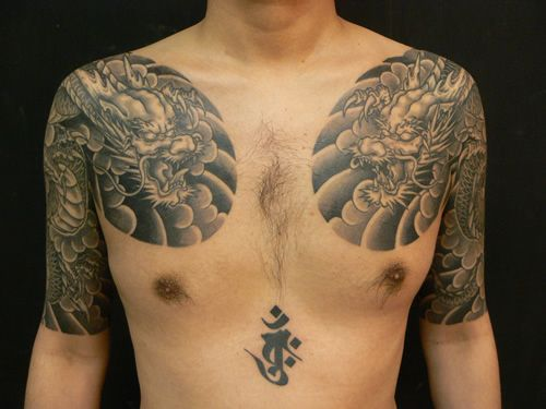 Shoulder Japanese Dragon Tattoo by M Crow Tattoo