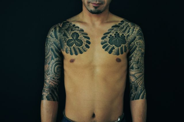 Arm Chest Japanese Tattoo by Ryus Design Tattoo