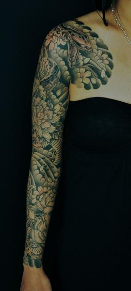 Japanese Sleeve Tattoo by Ryus Design Tattoo