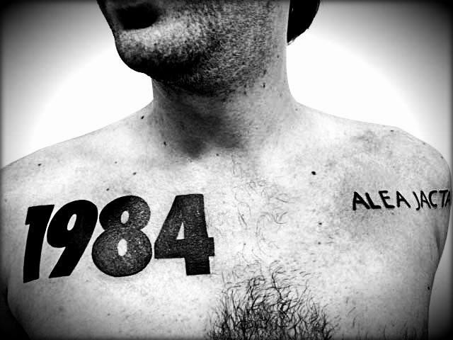 Chest Lettering Fonts Tattoo by Brasil Tatuagem