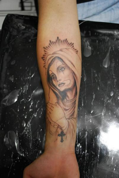 Arm Religious Tattoo by Hell Tattoo