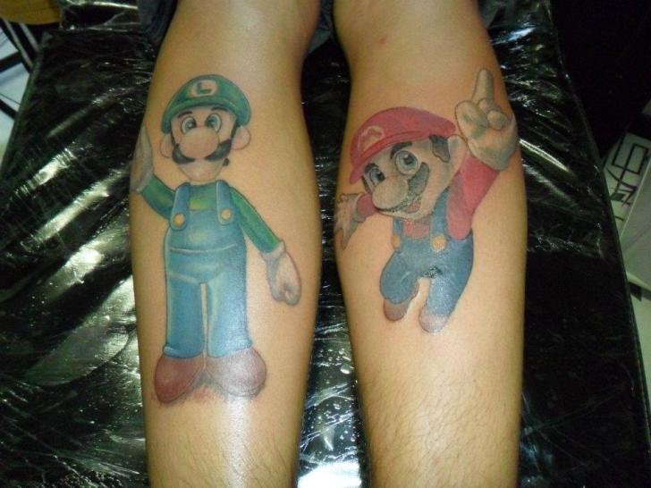 Fantasy Super Mario Tattoo by Hell Tattoo