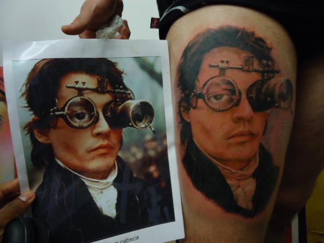 Realistic Johnny Depp Tattoo by Hell Tattoo