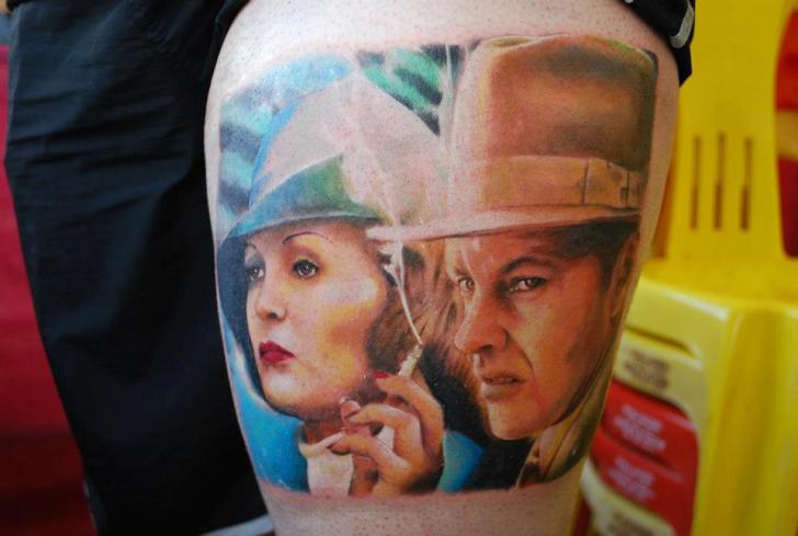 Realistic Women Men Tattoo by Hell Tattoo