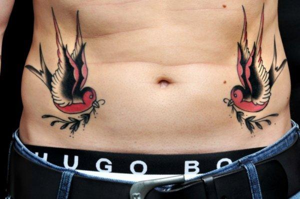 Old School Swallow Belly Tattoo By Art N Style