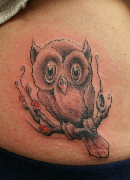 Fantasy Owl Tattoo by Art n Style