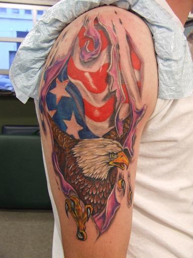 Schulter Adler Usa Tattoo von Art n Style
