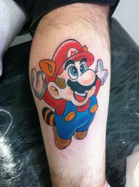 Arm Super Mario Tattoo von Leds Tattoo