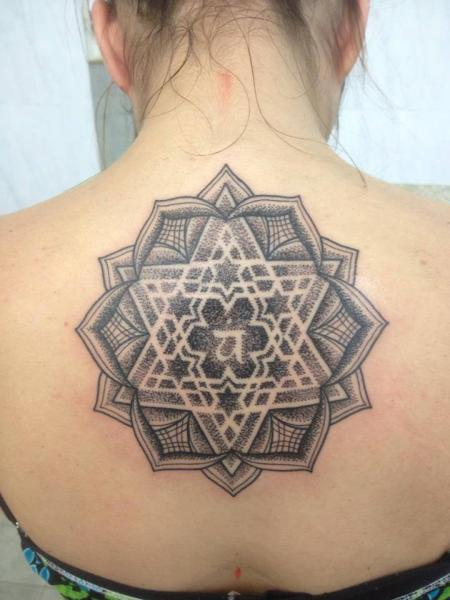 Back Geometric Tattoo by Leds Tattoo