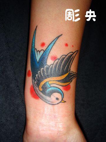 Arm New School Spatz Tattoo von Tattoo Studio Shangri-La
