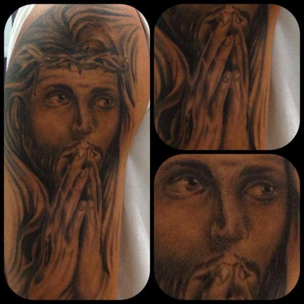 Arm Religious Tattoo by Tattoo Br