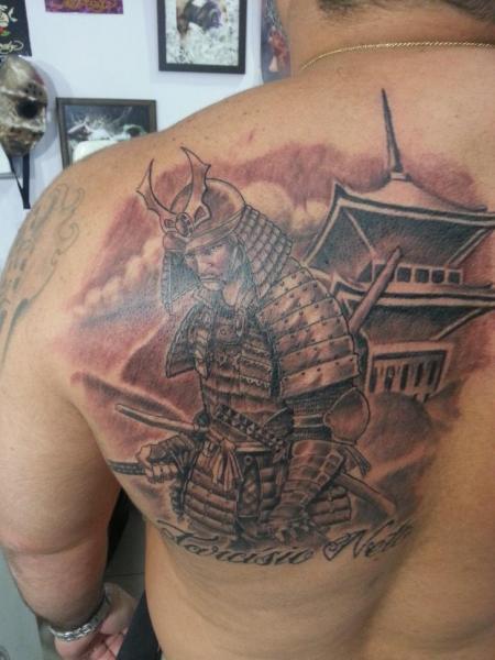 Shoulder Japanese Samurai Tattoo by Tattoo Br