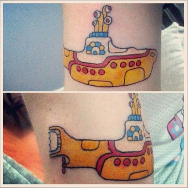 Arm Submarine Tattoo by Tattoo Loyalty