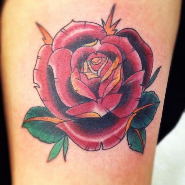 Blumen Rose Tattoo von Tattoo Loyalty