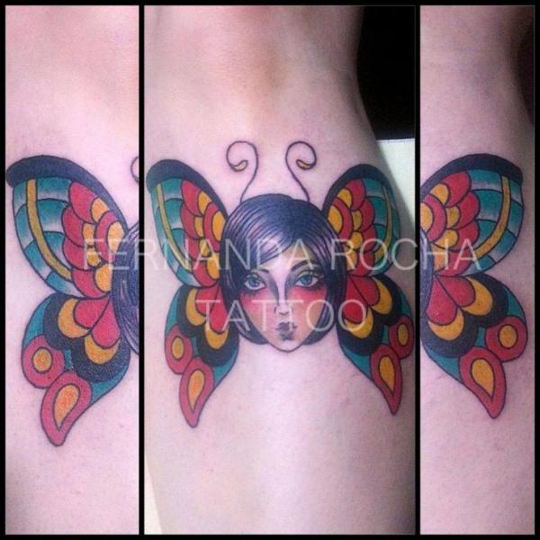 Old School Butterfly Tattoo by Tattoo Loyalty