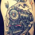 Arm Train tattoo by Sake Tattoo Crew