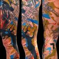 Fantasy Leg tattoo by Sake Tattoo Crew