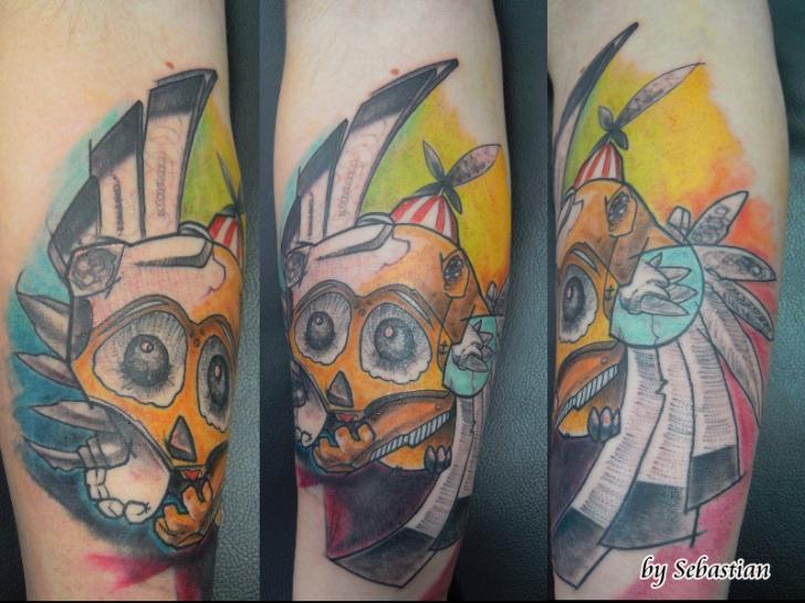Arm Fantasie Charakter Tattoo von Baltic Tattoo