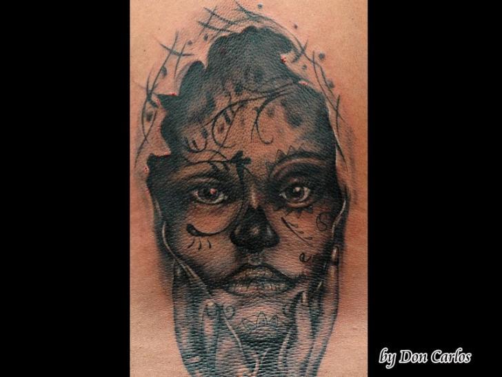Mexican Skull Tattoo by Baltic Tattoo