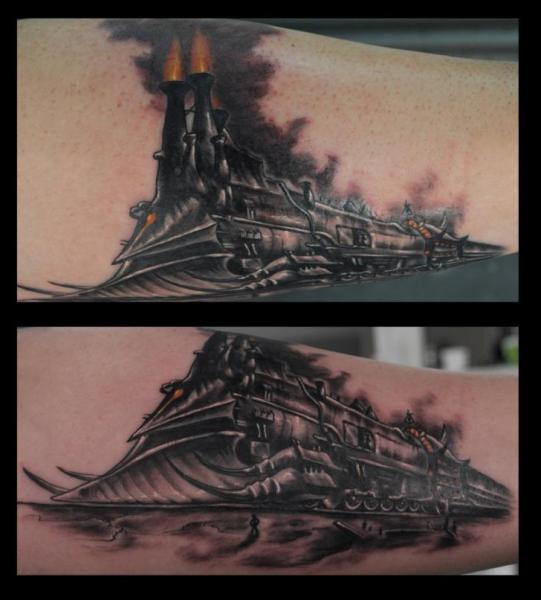 Fantasy Train Tattoo by Medusa Tattoo