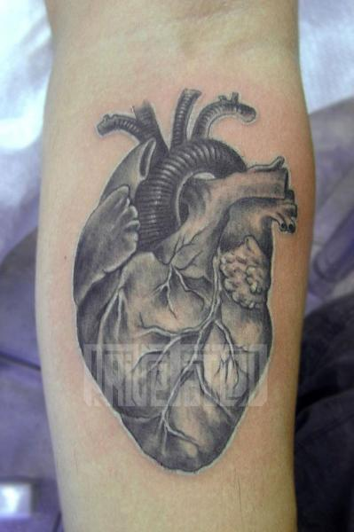 Arm Heart Tattoo by Prive Tattoo