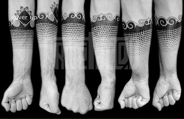 Tatuaggio Braccio Dotwork di Prive Tattoo