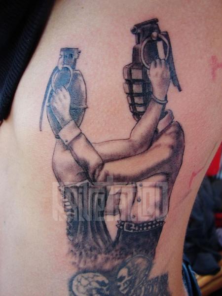 Fantasy Side Bomb Tattoo by Prive Tattoo