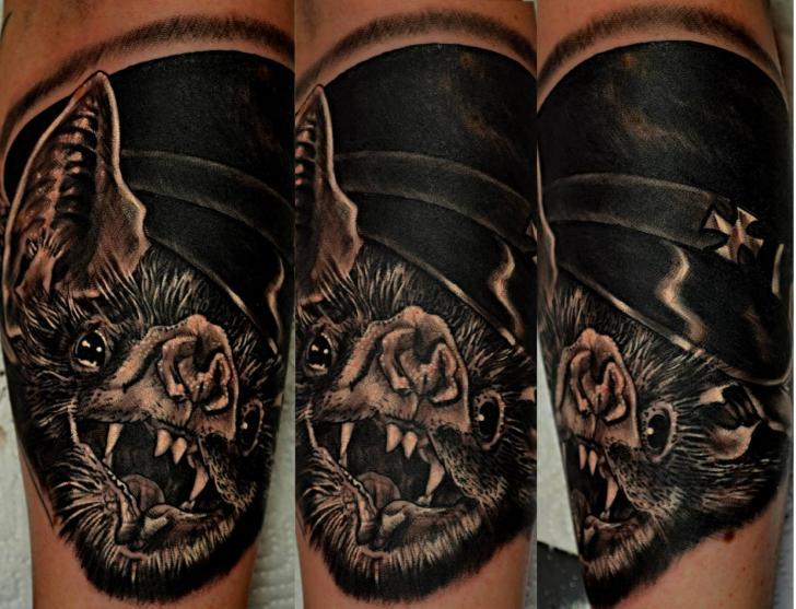 Realistic Bat Tattoo by Upstream Tattoo
