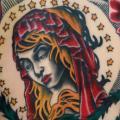tatuaggio Old School Fiore Schiena Religiosi di Ace Of Sword Tattoo