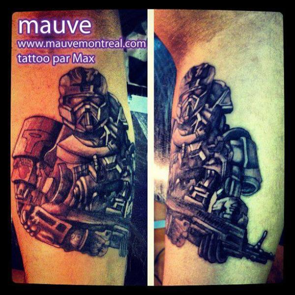 Arm Fantasie Krieger Tattoo von Mauve Montreal