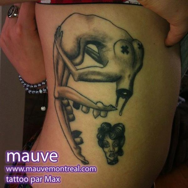 Fantasy Side Women Tattoo by Mauve Montreal