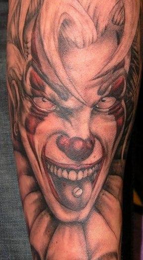 Arm Fantasy Joker Tattoo by Bloody Ink