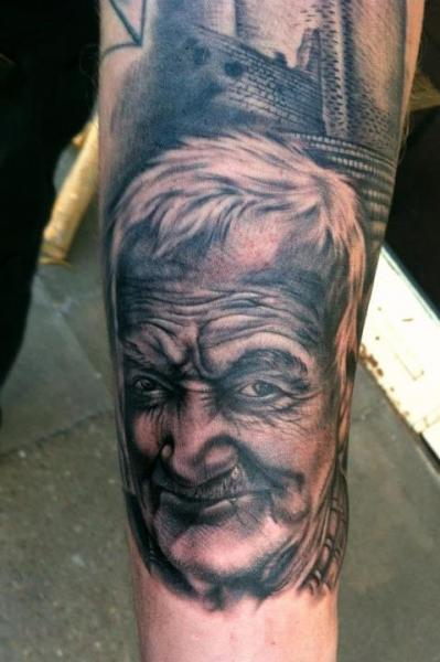 Arm Portrait Realistic Tattoo by Bloody Ink