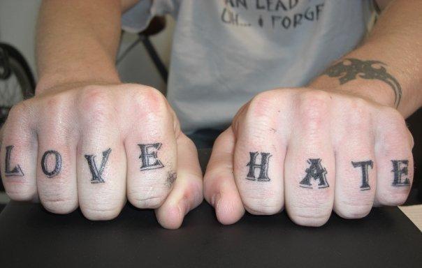 Finger Lettering Fonts Tattoo by Shogun Tats
