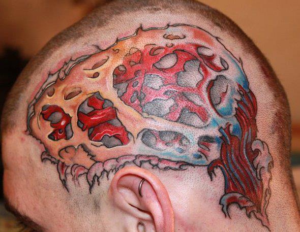 Head Brain Tattoo by Shogun Tats