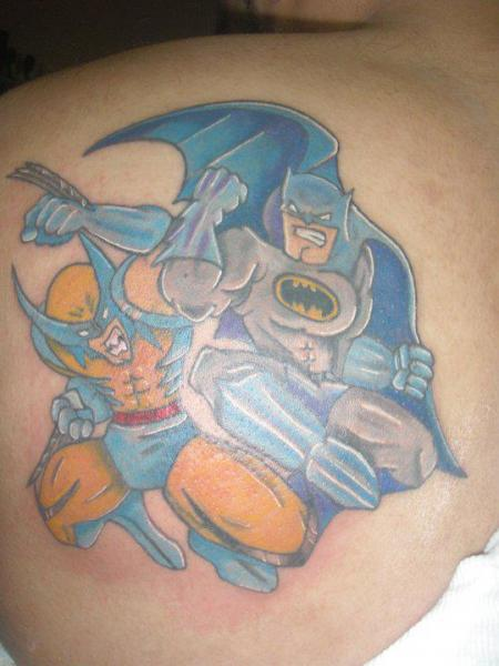 Schulter Fantasie Batman Held Tattoo von Shogun Tats