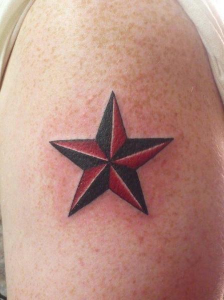 Shoulder Star Tattoo by Shogun Tats