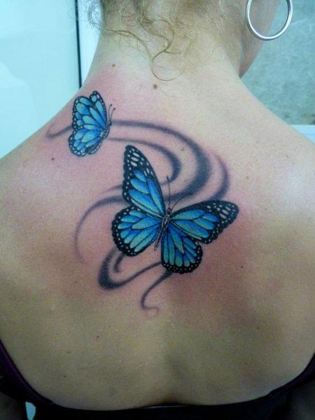 Realistic Back Butterfly Tattoo by Blood for Blood Tattoo