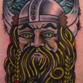 Shoulder New School Viking tattoo by Burnout Ink