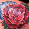 Shoulder Flower Rose tattoo by Carnivale Tattoo