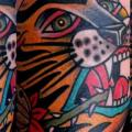 Arm Old School Tiger tattoo by Last Port