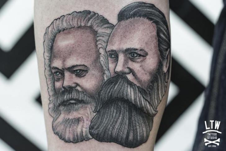 Old School Men Tattoo by LW Tattoo