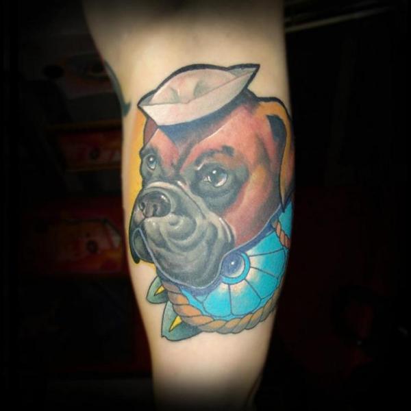 Tatuaje Brazo Fantasy Perro por Punko Tattoo