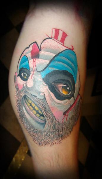 Arm Fantasy Clown Tattoo by Punko Tattoo