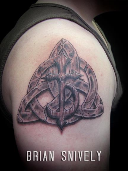 Shoulder Celtic 3d Tattoo by Sink The Ink
