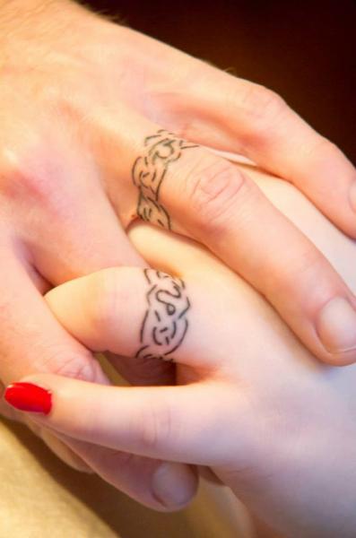 Finger Geometric Tattoo by Sink Candy Tattoo